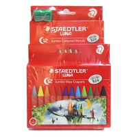 Staedtler Luna Jumbo Color pencils 12pcs + Jumbo color Crayons 12pcs