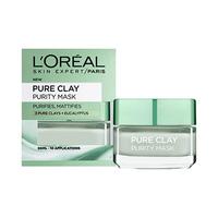 L'Oreal Paris Pure Clay Green Mask with Eucalyptus 50ML + Spatula