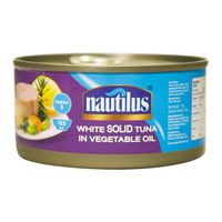 Nautilus White Solid Tuna In Vegetable Oil 170g