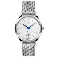 Lee Cooper Men's Analog Silver Case Silver Super Metal Strap Silver Dial -LC06291.330