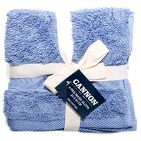 Cannon Face Towel 4pc set City Blue 33X33cm