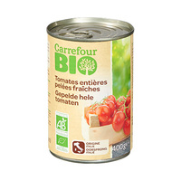 Carrefour Bio Tomato Whole Peeled 400GR