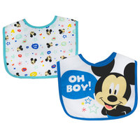 Mickey 2 Pack Cotton Bibs