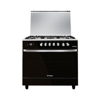 Fresh Hummer Digital Gas Cooker, 5 Burners, 90x60cm - Silver/Black