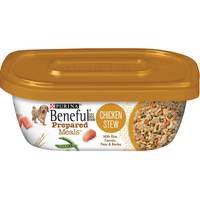 Purina Beneful Prepared Dog Food Meal Chicken Stew Tub  283g
