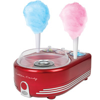 Nostalgia Retro Series Hard & Sugar-Free Candy Cotton Candy Maker, 420W, Red, COT5RR
