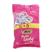Bic Twin Lady Sensitive Disposable Razor 10 + 5