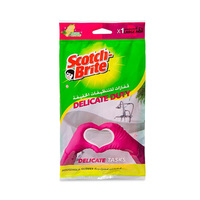 Scotch Brite Gloves Large Delicate Lemon