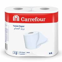 Carrefour Toilet Paper 325 Sheet 2 Ply 4 Rolls