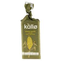 Kallo Organic Lightly Salted Low Fat Corn Cake Thins 130g