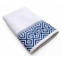 Cannon Bath Sheet White/Blue 81X163cm
