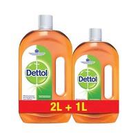 Dettol Liquid Antiseptic Disinfectant Liquid Cleaner 2L+ 1L -30% Offer
