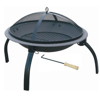 Fire Pit 55Cm With Foldable Legs