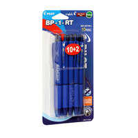 Pilot Retractable Ball Pen Blue 10pcs