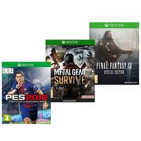Microsoft Xbox One PES 2018+Metel Gear Survive+Final Fantasy XV