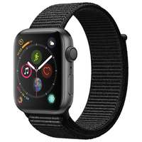 Apple Watch Series-4 GPS + Cellular 40mm Space Grey Aluminium Case with Black Sport Loop (MTVF2AE/A)