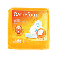 Carrefour Pads Ultra Thin Normal With Wings x14