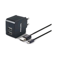 Philips Wall Charger Dual USB + Micro USB Cable DLP2307U