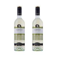 Zonin Chardonnay 12.5% Alcohol Wine 75CL X2
