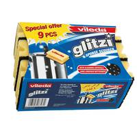 Vileda Glitzi Sponge Scourer Dish Washing High Foam 9 Pieces