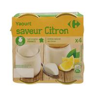 Carrefour Flavored Yoghurt Lemon 125gx4