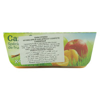 Carrefour Apple And Apricot Compote 100gx4