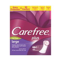 Carefree Ladies Pads Large Plus Freshness 48 Napkins + Intimate Wash 200ML