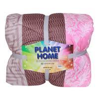Planet Home Microfiber Comforter 220X240 Dark Pink