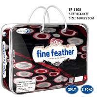Fine Feather Soft Blanket Single 2Ply 2.4Kg