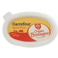 Carrefour Butter Unsalted Cup 250g