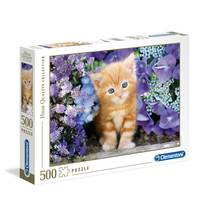 Clementoni Ginger Cat in Flowers - 500 pcs