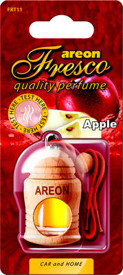 Areon Air Freshener Cardboard Car Apple Red Fresco