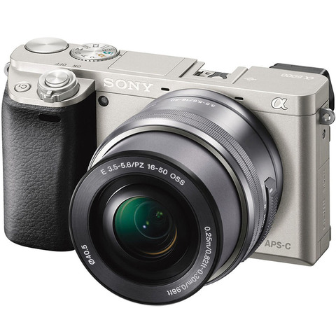 Sony-SLR-Camera-Alpha-ILCE-6000L-Silver-+-E-16-50MM-Lens-+-8GB-Card-+-Case