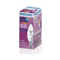 Philips LED Lampen Candle Long Lasting Saving E14 5.5-40W 2700K