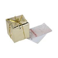 حزمة للف هدايا عيد الميلاد المجيد لون ذهبي
