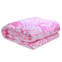 3D Super Soft Flannel Blanket Double Pink