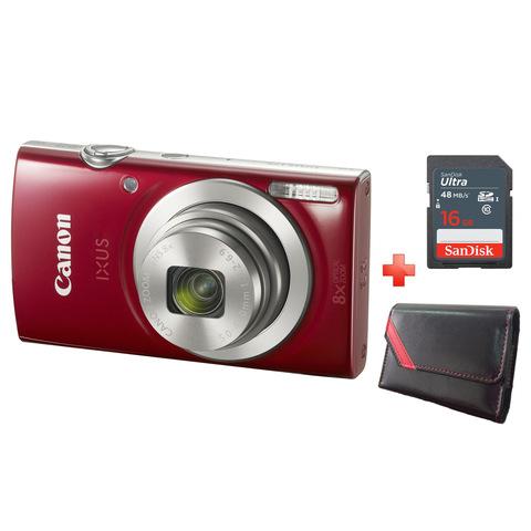 Canon-Camera-IXUS-175-Red-+-8GB-Card-+-Case