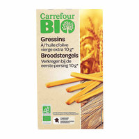 Carrefour Bio Organic Bread Sticks With Olive Oil 125 Gram
