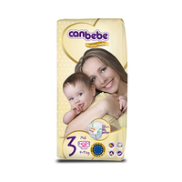 Canbebe Diapers Size 3 4-9KG 58 Sheets