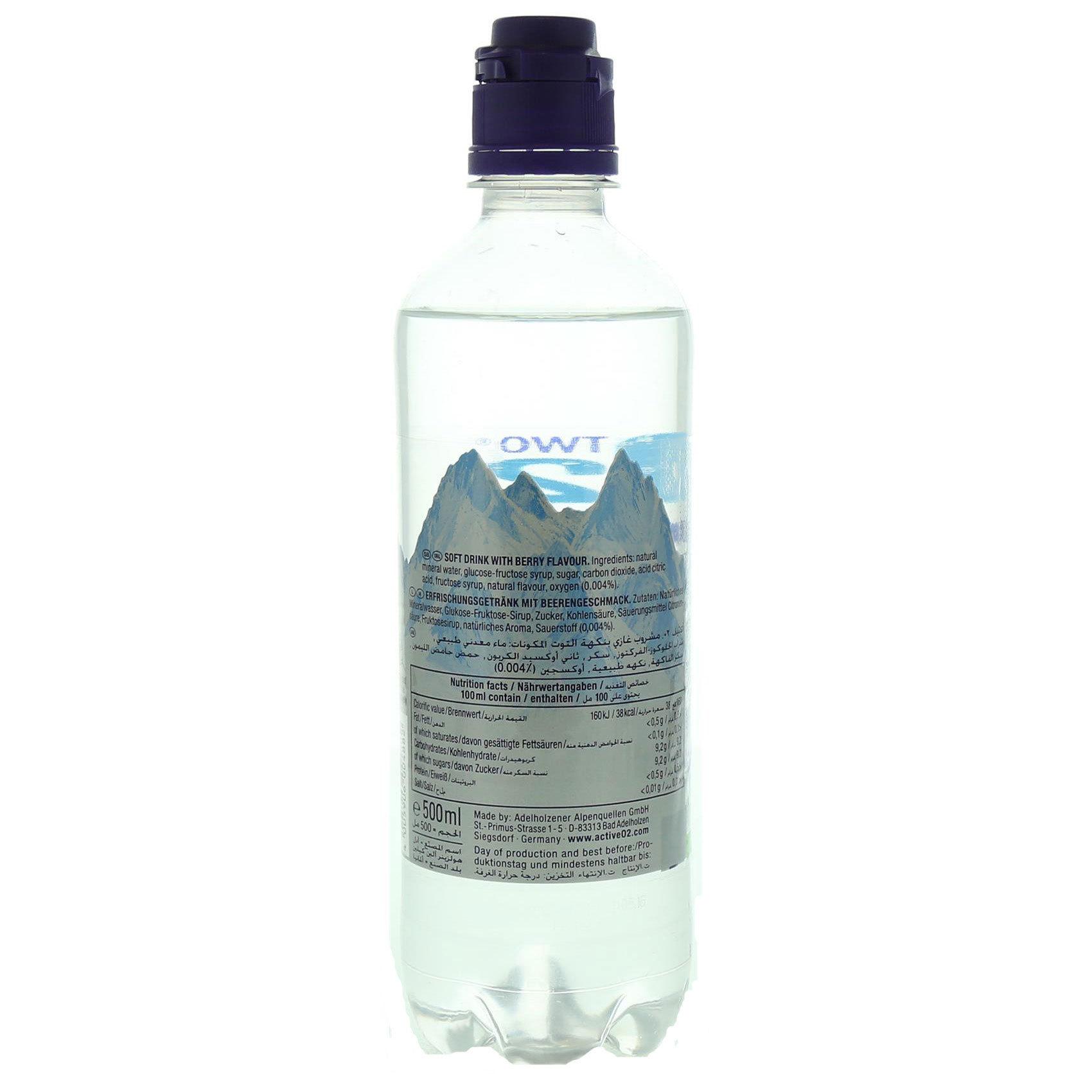 ACTIVE 02 OXYGEN WATER BERRY 500ML