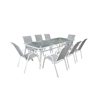 Taxtileme Dining Set Of 9 Pieces