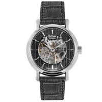 Lee Cooper Men's Automatic Silver Case Black Leather Strap Black Dial -LC06369.351
