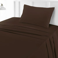 Tendance's Fitted Sheet Single Dark Brown 99X193