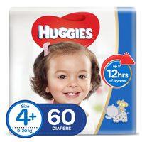 Huggies Superflex Baby Diaper Size 4+ Jumbo 9-20kg 60 Pieces