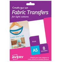 Avery Fabric Transfer Light HTT02