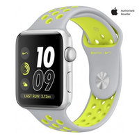 Apple Watch Series 2 Nike+ 42mm Silver Aluminium Case With Flat Silver Volt Sport Band