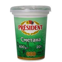 President Sour Cream 20% 400g