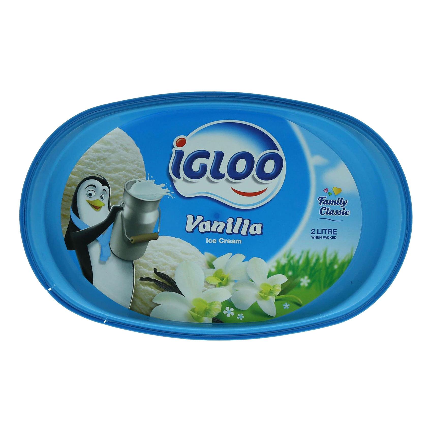 IGLOO ICE CREAM VANILLA 2L