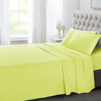 Tendance's Fitted Sheet Double Mustard 137X193