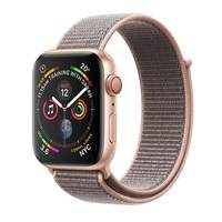 Apple Watch Series-4 GPS + Cellular 40mm Gold Aluminium Case with Pink Sand Sport Loop (MTVH2AE/A)